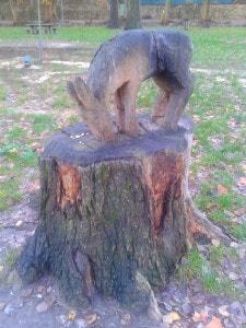 Escultura en un parc.